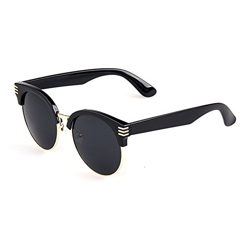 Gafas de Sol Polarizadas para Hombres Mujeres Retro señoras de gafas de sol polarizadas del medio capítulo de vacaciones UV Protection TR90 playa al aire libre de verano Protección UV Retro Vintage