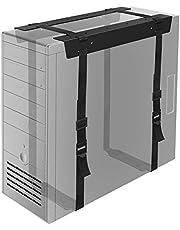 BONTEC Under Desktop PC CPU Holder Straps Computer Tower Case Mount Bracket Office Home
