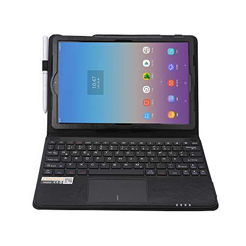 MQ für Galaxy Tab S4 10.5 - Bluetooth Tastatur Tasche mit Touchpad für Samsung Galaxy Tab S4 10.5 | Tastatur Hülle für Galaxy Tab S4 LTE SM-T835 WiFi SM-T830 | Touchpad Tastatur Layout deutsch QWERTZ