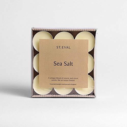 St Eval Natural Scented Tealights x 9 - Sea Salt