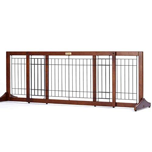 Barrière de sécurité Les Portes En Bois D'animal Familier Extra Larges Pour Les Chats Montent Des Portes Autoportantes D'intérieur 100-187cm Larges Et 50cm Haut