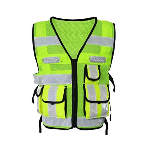 Reflecterend led-veiligheidsvest met lichte reflecterende kleding veiligheidswaarschuwing lostgaming