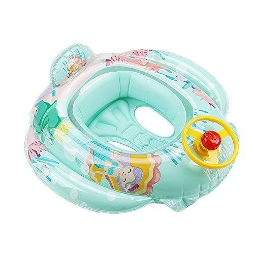 MINASAN Baby Schwimmring Aufblasbares Schwimmen Ring Kinderboot Schwimmsitz Hilfe Kleinkind Sicherheitshilfe Float für Baby von 6 bis 36 Monaten (Meerjungfrau, Einheitsgröße)