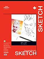 PRO ART 18-Inch by 24-Inch Sketch Paper Pad, 30 Sheets [並行輸入品]