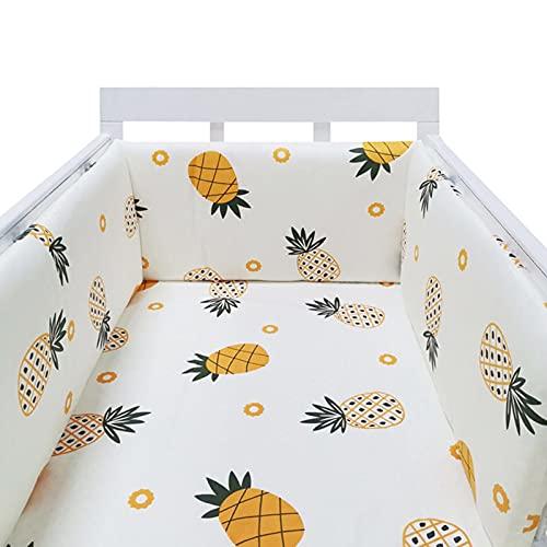 NIMON Pare-Chocs de lit de bébé Une pièce Barrière de lit de bébé Protection de lit en Coton Pare-Chocs de Garde-Corps - Pare-Chocs de lit de 2 m Protection de la tête enveloppante pour Les for Sale