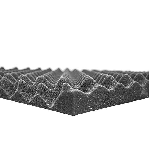 Noppenschaum anthrazit Platte 200 x 100 x 4cm zur Schalldämmung und Akustik Optimierung