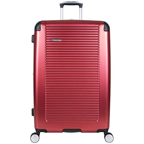 Ben Sherman 181034 Norwich Collection Lightweight Hardside PET Expandable 8-Wheel Spinner Luggage, Cherry Red, 28-Inch Checked