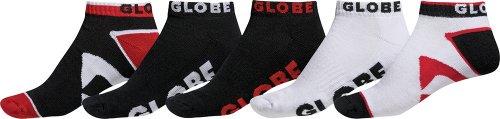 Globe - GB70919041 - Soquettes - Lot de 5 - Mixte Adulte - Multicolore (rouge/ blanc/ noir) - Taille 7-11