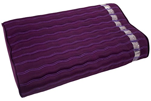 Far Infrared Amethyst Mat Pillow - Negative Ion - FIR - with Gemstone Crystals - Jewel Grade Natural Amethyst - Memory Foam - Non Electric - Artisan Handmade - High End Suede - Purple Pillow