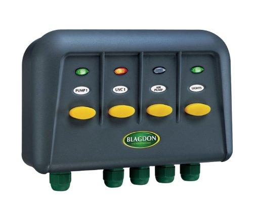 Blagdon Boîtes d'Interrupteur PowerSafe à 2 Prises de Courant 4 Outlet Noir
