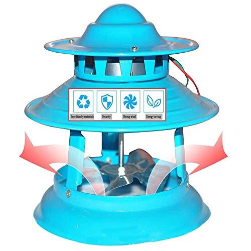 Extractor de Humos de Chimenea, Ventilador de Escape para Chimenea, Ventiladores de Ventilación de Chimenea, Bomba de Extracción de Humos Guiada por El Techo, 150Watts 5Leaves