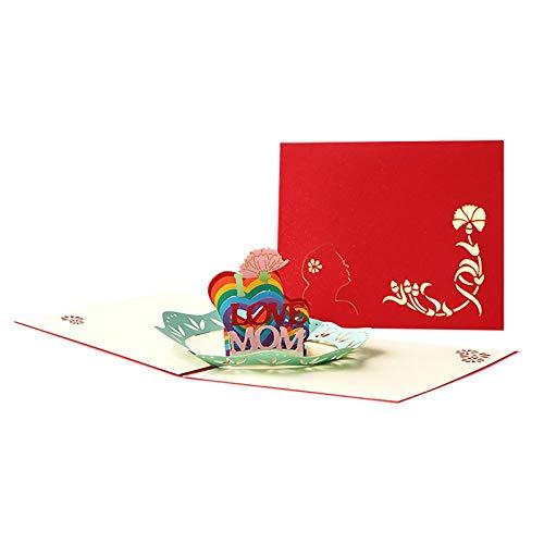 Btruely Muttertagskarte, 3D Pop Up Geburtstagskarte für Mama, das beste Geschenk für Mamas Geburtstag und Muttertag