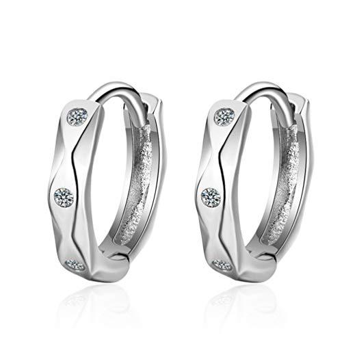 Rapidly Creolen Silber 925 Damen 12mm, Creolen Ohrringe Hoop Earrings Ohrschmuck