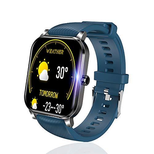 SLuB Smartwatch, Fitness Tracker, Frequenza Cardiaca, Pressione Sanguigna e Monitor del Sonno, Contapassi, Impermeabile IP68, Compatibile con Android e iOS (Blu)