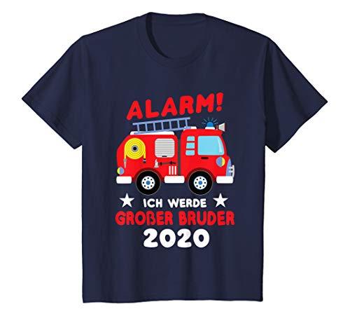 Kinder Ich werde großer Bruder 2020 Shirt Feuerwehrauto Baby Geburt T-Shirt