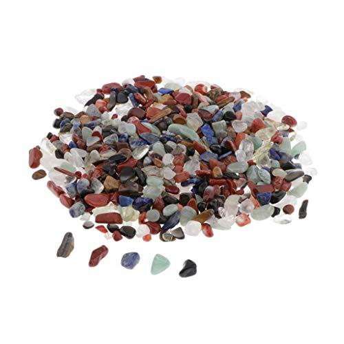 Sharplace 100g Chips de Cuentas de Piedra Irregular para Hacer Joyas Adornos de Bricolaje, Decoración de Jardín Patio - mi