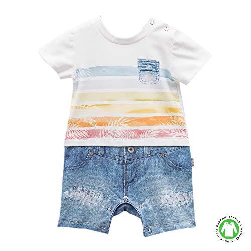 Sevira Kids – Combial bebé de algodón orgánico Oscar azul azul Talla:1-3M - 56CM