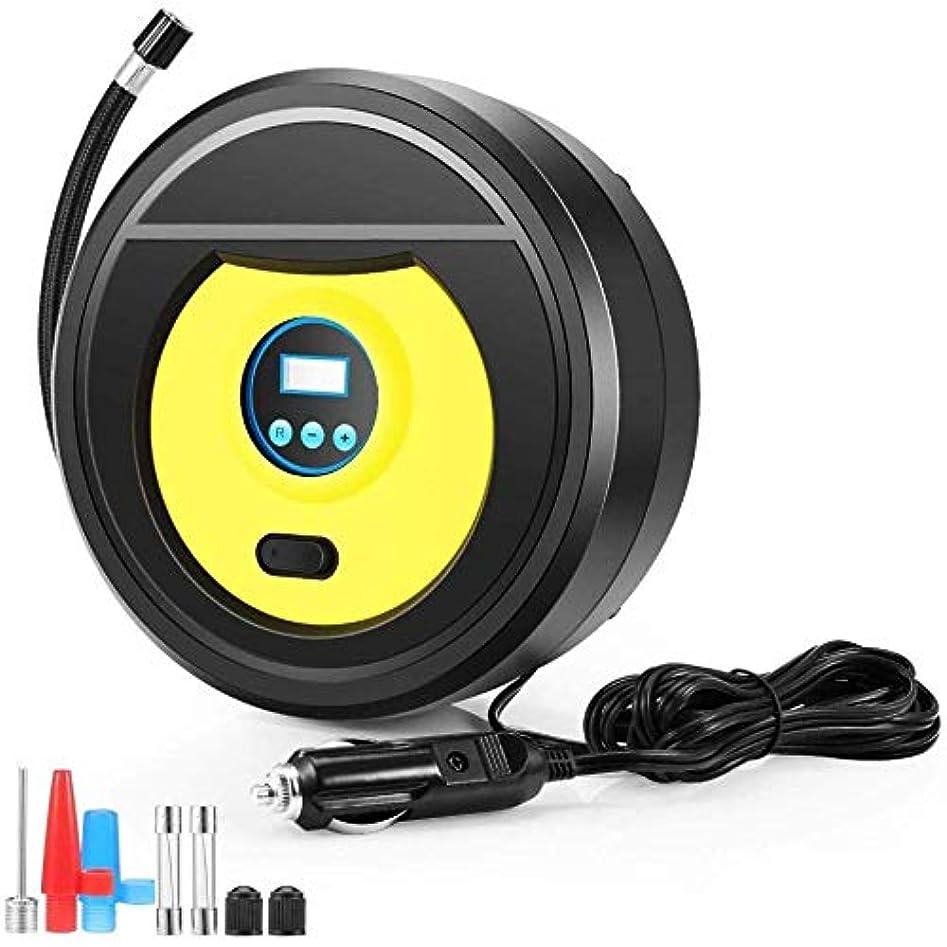 忍耐懐疑的警告携帯用タイヤのインフレーター12Vの電気空気用具車のタイヤポンプ、LCD表示、車、ミニバン、自転車、バスケットボール、ラグビーのための導かれたライト