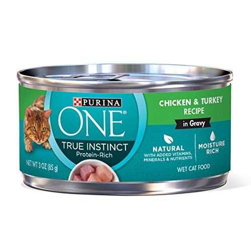Purina ONE Natural Gravy Wet Cat Food, True Instinct Chicken & Turkey Recipe in Gravy