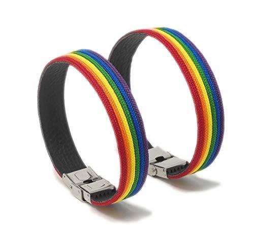 GOS Best Supplies 2 Pulseras Arcoiris Multicolor Rainbow Amistad LGBTI Pride Orgullo