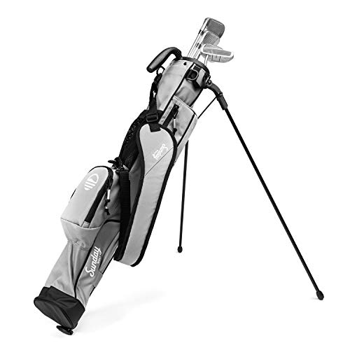 Sunday Golf  Lightweight Sunday Golf Bag with Strap and Stand – Easy to Carry and Durable Pitch n Putt Golf Bag – Golf Stand Bag for The Driving Range Par 3 and Executive Courses – 315 inches Tall…
