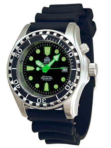 Tauchmeister Diver Reloj 'Movimiento Automático'. Cristal de Zafiro - Helium Velve T0329