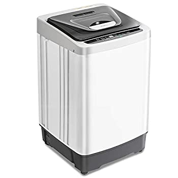 Portable Washing Machine 12.6 lbs Capacity Fully Automatic Compact Washer and Spin Dryer 1.54 cu.ft Laundry Washer with Drain Pump 8 Programs and LED Display Ideal for Apartments RV Camping