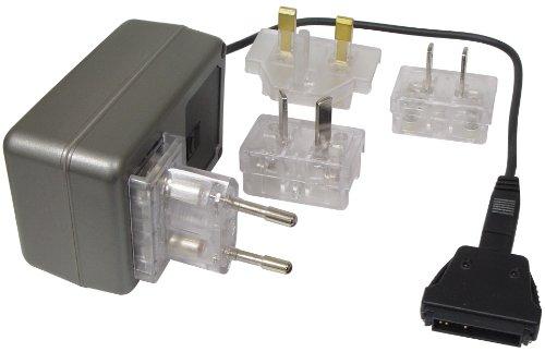 Transmedia Alimentatore di rete da viaggio 500mA PDA sincronizzato con GB/US/AU/EU maschio e connettore 100–240V/5V NTT15L