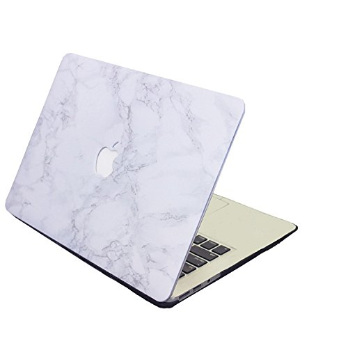 Hica MacBook Pro Retina 15'' Case, Beautiful Hard Case and Keyboard Cover Protector For MacBook Pro Retina 15.4 Inch (A1398) - Marble Grey