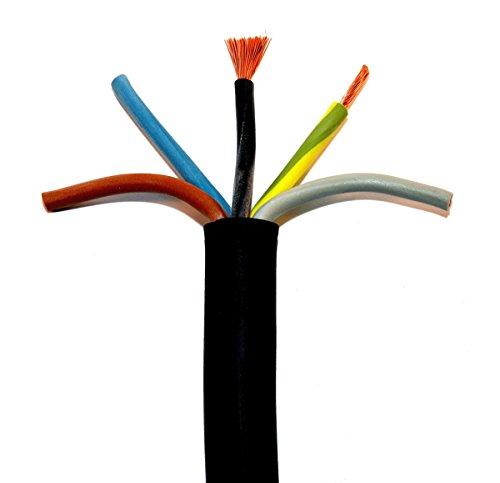 50m H07RN-F 5G2,5 Gummischlauchleitung Ring schwarz 5x2,5qmm Gummikabel