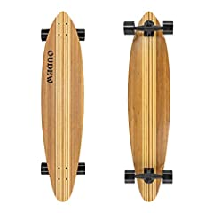 "PURSUE DETAIL AND ART - Our 41"" Longboard is the perfect size constructed in a Multi-ply Hardwood Maple and beautiful artisan bamboo deck shaped to perform and the extra detail. STURDY AND STABLE - 8 Ply Super Flex Bamboo and Hardwood Maple Deck,dura..."