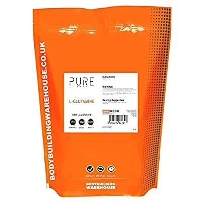 Bodybuilding Warehouse Pure L-Glutamine Powder (500g)