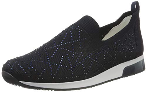 ara Damen LISSABON Slipper, Blau 02), 39 EU(6 UK)