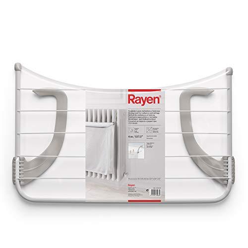 Rayen | Stendibiancheria per termosifoni e balconi | stendino per piccola biancheria | 4 m di superficie di asciugatura | Stendibiancheria da interno ed esterno | 54,5 x 35 x 13,5 cm