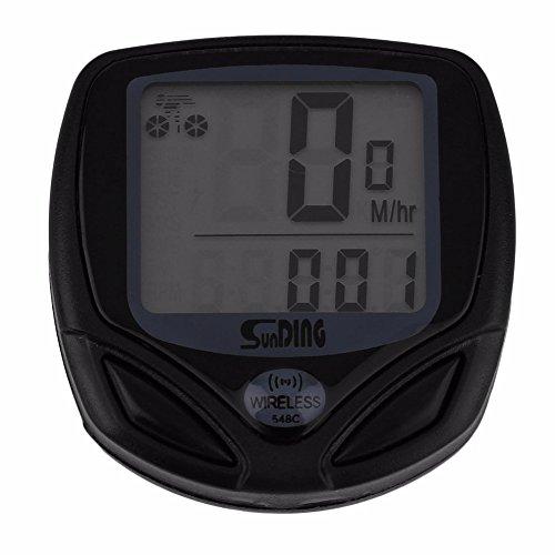 Lexiesxue Sunding 1pc Wireless LCD Bicycle Computer Bicycle Meter Speedometer Odometer For Bike Best Black