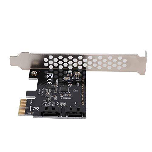 PCI-E zu SATA 3.0 Adapter, PCI Express zu SATA 3.0, 2-Port SATA III Erweiterungsadapter, 6 Gbit / s Übertragungsgeschwindigkeit, unterstützt Win (R) XP / Server2003 / VISTA / 7/8 (32 / 64bit) / Linux