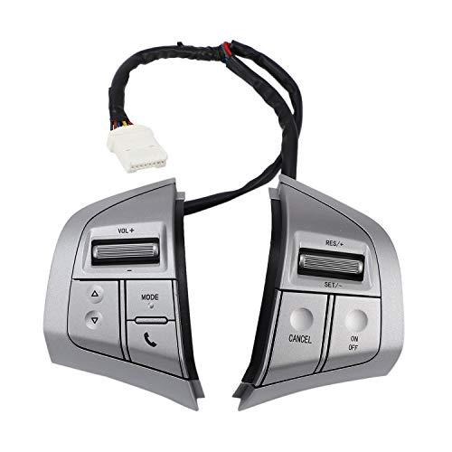 Viudecce BotóN del Volante del AutomóVil Interruptor de Control de Crucero BotóN de Medios de Audio MultifuncióN para D-MAX DMAX para Dmax D-MAX
