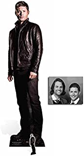 Fan Pack - Dean Winchester (Jensen Ackles) Supernatural Lifesize and Mini Cardboard Cutout / Standee / Standup - Includes 8x10 Star Photo