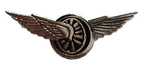 Anstecker, Metall, Emaille, Winged Racing Wheel Rad) (mit Flügeln