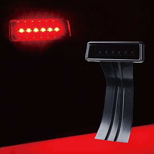 Xprite LED Third Brake Lights w/ Smoke Lens High Mount Stop 3rd Tail Light Compatible with 2007-2018 Jeep Wrangler JK