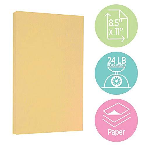 JAM PAPER Parchment 24lb Paper - 8.5 x 11 - Antique Gold Recycled - 100 Sheets/Pack Photo #3