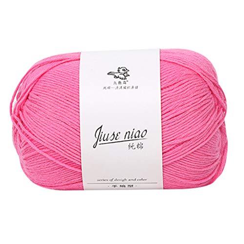 Janly Clearance Sale Lana para tejer, hilo de algodón, lana para bebé, tejido a mano en lana gruesa, línea de bufanda, poliéster, textiles de ganchillo para matar tiempo y pasatiempos (C)