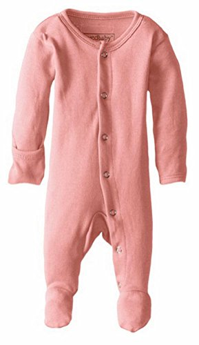 L'ovedbaby Unisex-Baby Organic Cotton Footed Overall, Coral, 0/3 Months