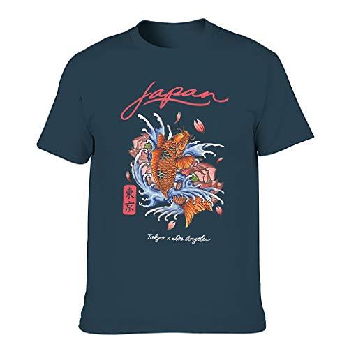 Lind88 Hombres Japón Koi Tokyo Algodón Camisetas - Moda Ropa