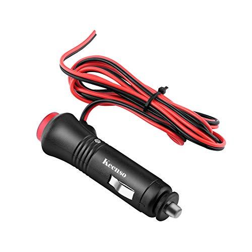 Preisvergleich Produktbild Keenso Auto Zigarettenanzünder Stecker Adapter,  Auto 12V-24v Zigarettenanzünder Ein / Aus Schalter mit 1, 5m Verlängerungskabel