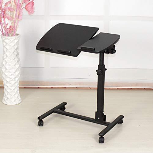MIAE Höhenverstellbarer Tisch Kippschreibtisch Rolling Laptop Stand Tablett Tisch C Form Couch Stuhl Beistelltisch Mit Abschließbaren Rädern