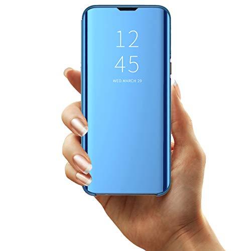 Clear View Standing Cover für das Samsung Galaxy S10 Plus,Spiegel Handyhülle Schutzhülle Flip Cover Schutz Tasche mit Standfunktion 360 Grad hülle für Galaxy S10 Plus (3)
