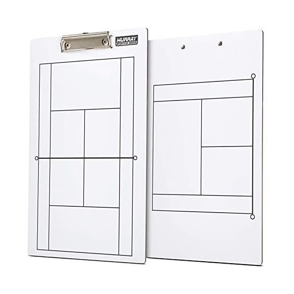 Murray Sporting Goods Dry Erase Double-Sided Tennis Coaches Clipboard