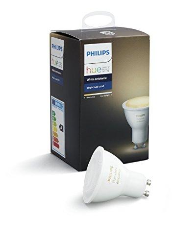Philips Hue Ampoule connectée White Ambiance Blanc chaud / Blanc froid GU10 - Fonctionne avec Alexa