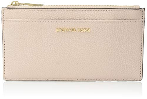 ​leather zip closure Gold-tone hardware 3 slip pockets and 9 credit card slots approx. 3.5(W) x 7(H)""